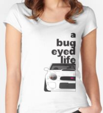 Subaru Bug Eyed life Fitted Scoop T-Shirt