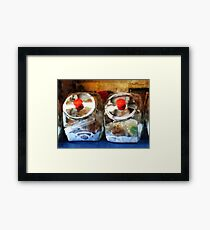 Two Glass Cookie Jars Framed Print
