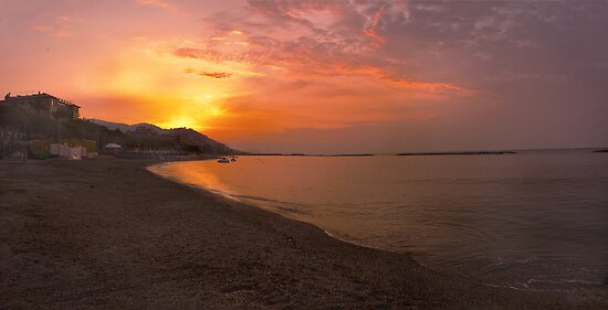 San Bartolomeo al Mare Sunrise. by Colin Metcalf