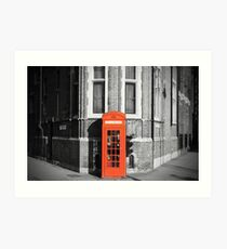 LONDON CALLING RED TELEPHONE BOOTH Art Print