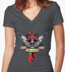 Like a BOSS Women's Fitted V-Neck T-Shirt
