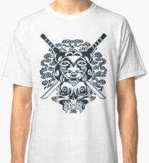 Samurai Mask and Skull Classic T-Shirt