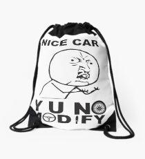 Y U No Modify Drawstring Bag