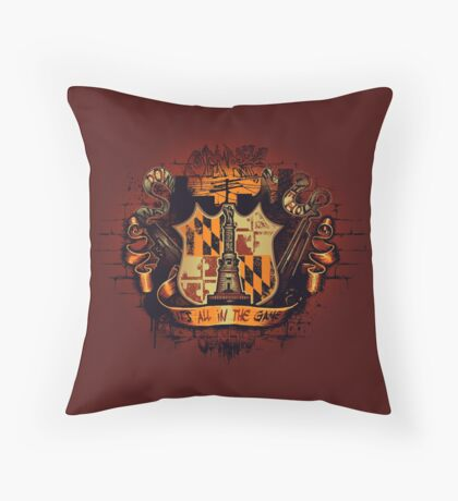 It's All in the Game Throw Pillow