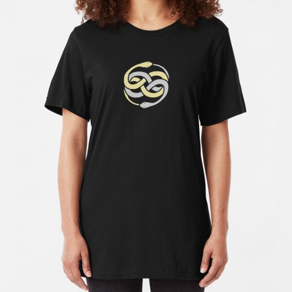 Auryn From The Never Ending Story - Gold Silver Slim Fit T-Shirt