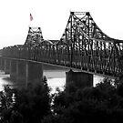 Old Glory on the bridge by Scott Chambless