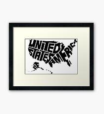 USA Black Framed Print