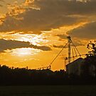 Sunset over the silos by Susan Blevins