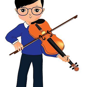 Violin kid love music by happiimii