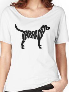 Labrador Black Women's Relaxed Fit T-Shirt