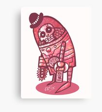 Mad Spaceman Series: Pink Slip Canvas Print