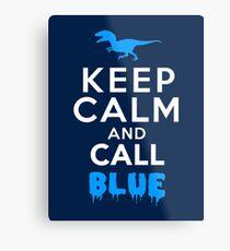 Behalte Ruhe und rufe Blau | Raubvogel Metallbild