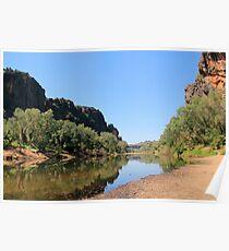 view into windjana gorge  Poster