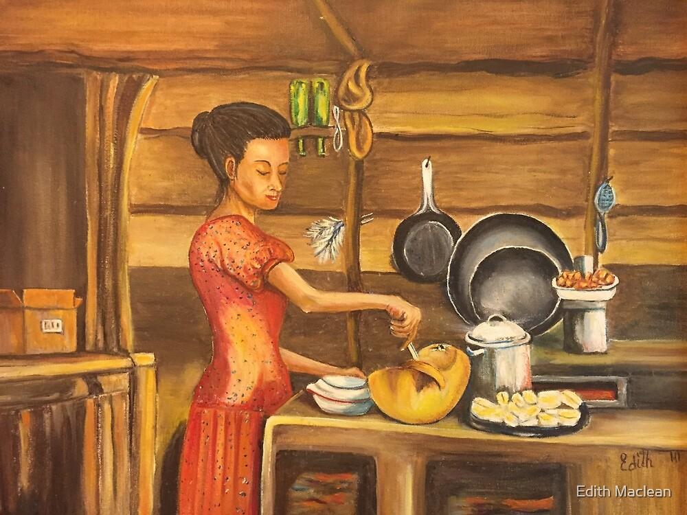 El Almuerzo / Preparing Lunch by Edith Maclean