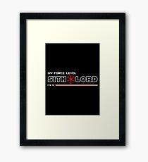 My Force Level: Sith Lord Framed Print