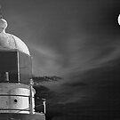 Moonlit tower by Steve  Woodman