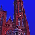 Smithsonian Castle and Statue of Joseph Henry  by michael6076