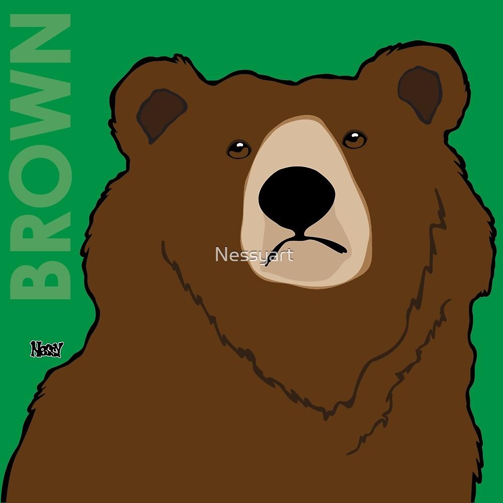 Brown Bear by Nessyart