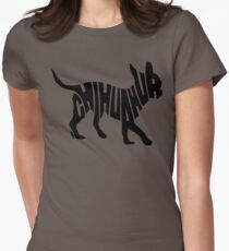 Chihuahua Black Womens Fitted T-Shirt