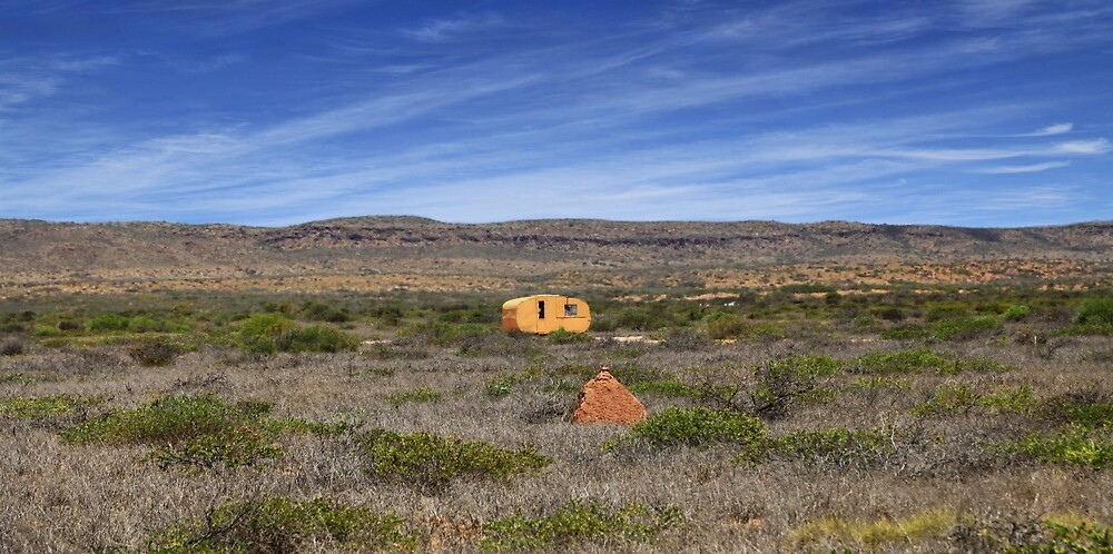 Outback Caravan, Exmouth, Western Australia by Marc Russo