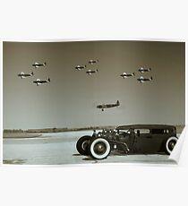 Fairchild PT-19 Trainer Fly Over Poster