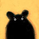 Cute furry black bear by samsudin ismail