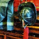 Fireman's Helmet and Jacket by Susan Savad