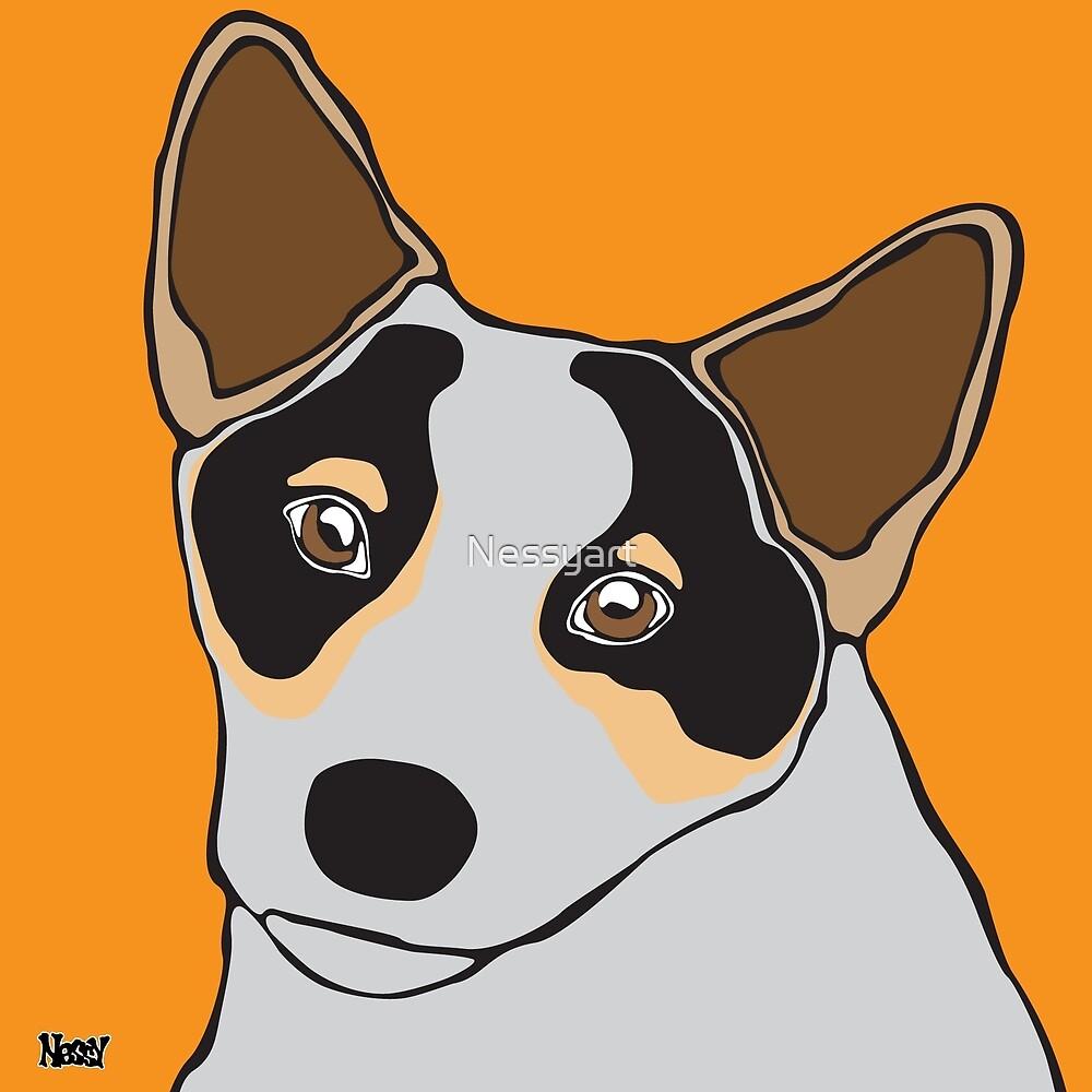 Australian Cattle Dog by Nessyart