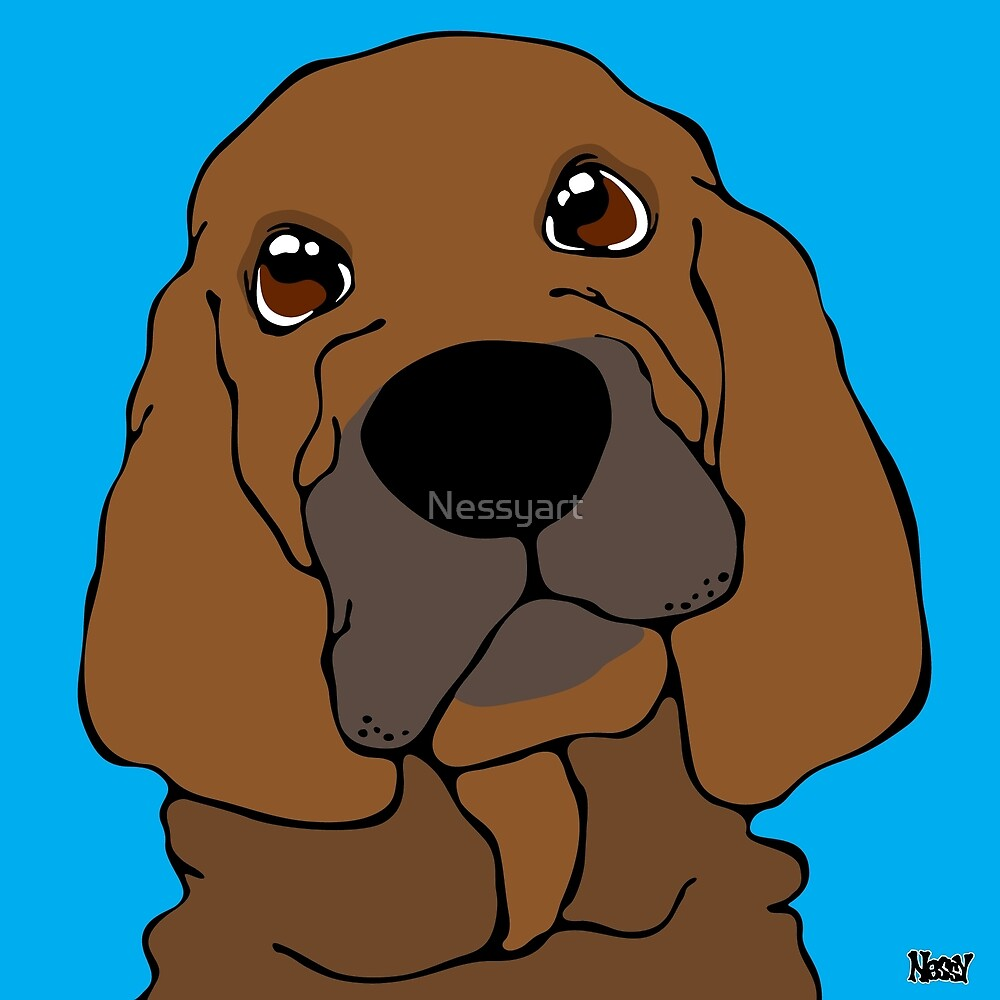 Bloodhound by Nessyart
