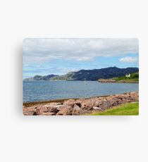 View to Inverewe from the Pool House Canvas Print