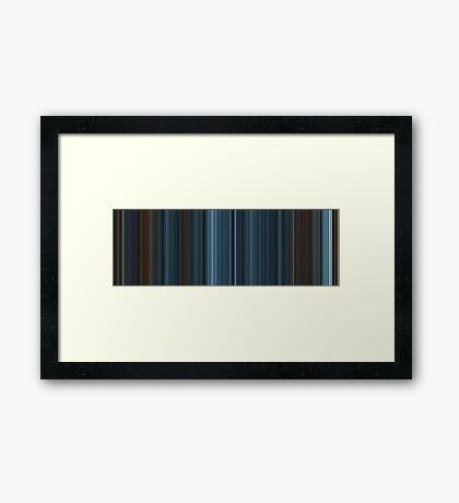 Moviebarcode: TRON: Legacy (2010) [Simplified Colors] Framed Print