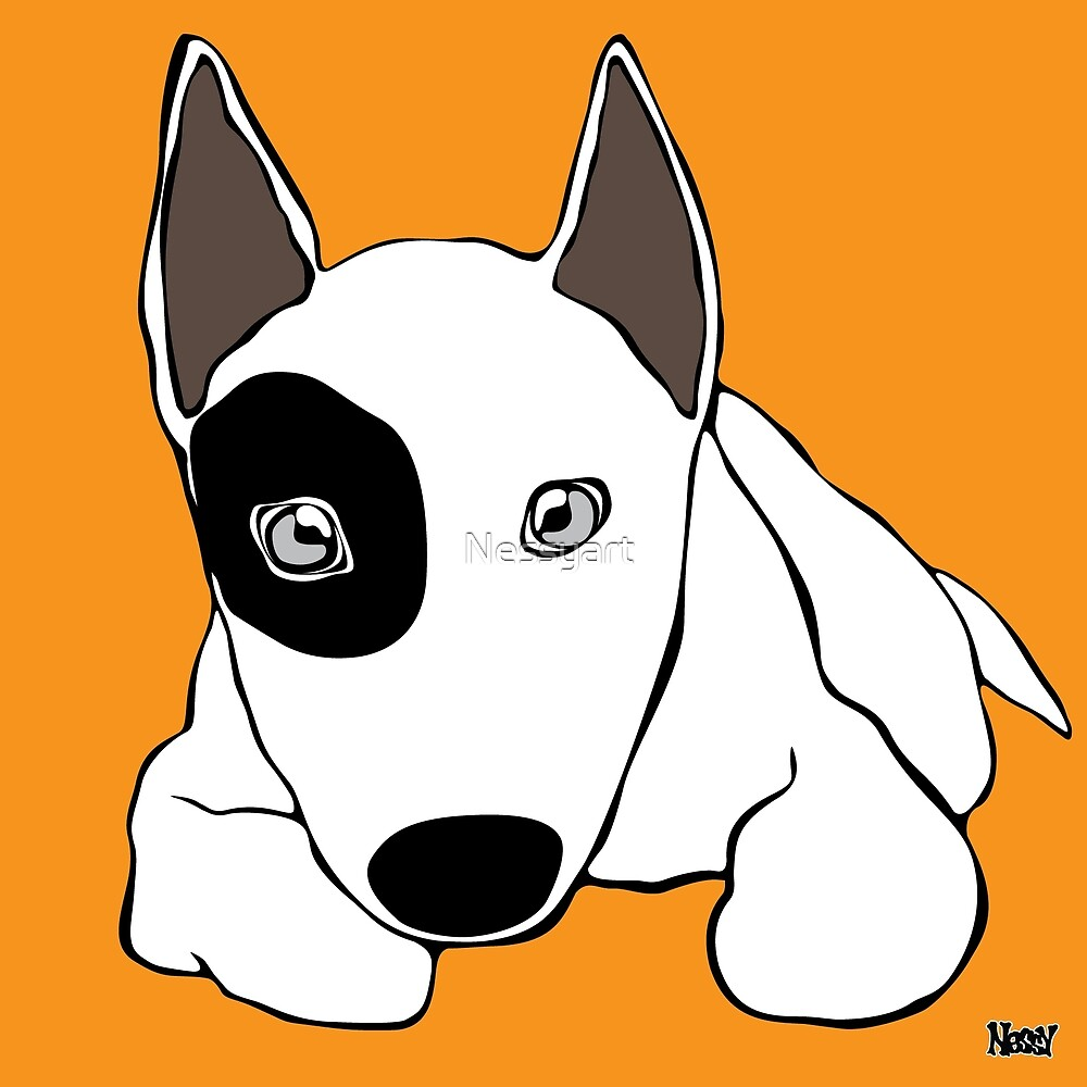 Bull Terrier by Nessyart