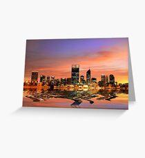 Perth City, Western Australia Greeting Card