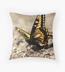 Drilling for Water Throw Pillow