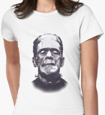 Frankenstein's Monster Variant for White Background Clothing and Books Women's Fitted T-Shirt