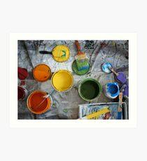 Many Paints Art Print
