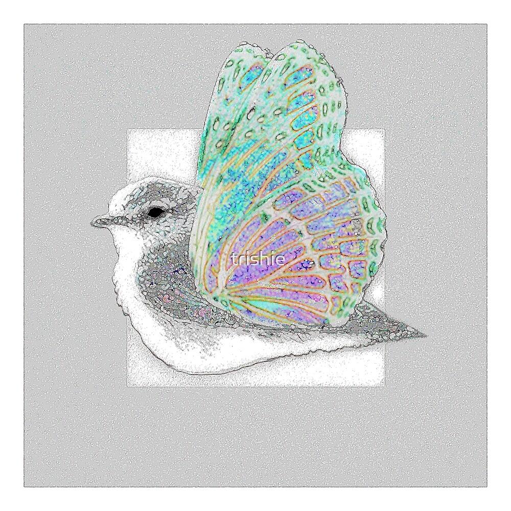 Butterfly Bird by trishie
