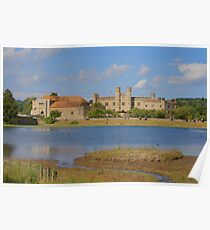 Leed Castle From Across The Lake Poster