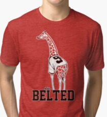Belted Belt Giraffe Tri-blend T-Shirt