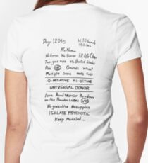 Mad Max: Fury Road - Back TATTOO Women's Fitted V-Neck T-Shirt