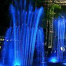 Blue Dancing Waters - Hong Kong by Bev Pascoe