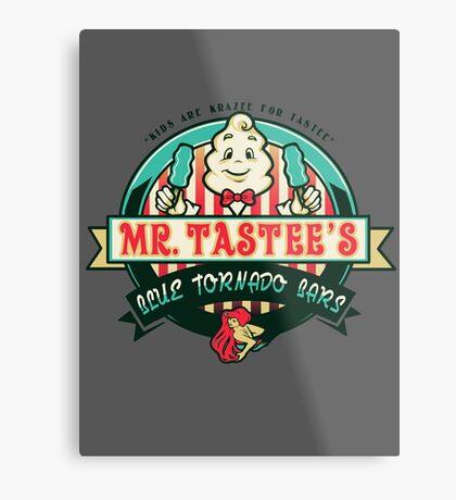 Mr. Tastee's Blue Tornado Bars Metal Print