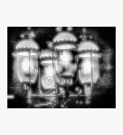 Frosty Streetlamps Photographic Print