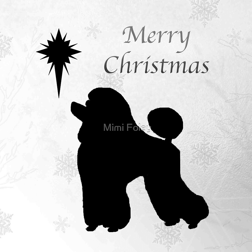 Christmas Star Poodle by folichell