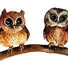 Baby Owls #2 by wendish