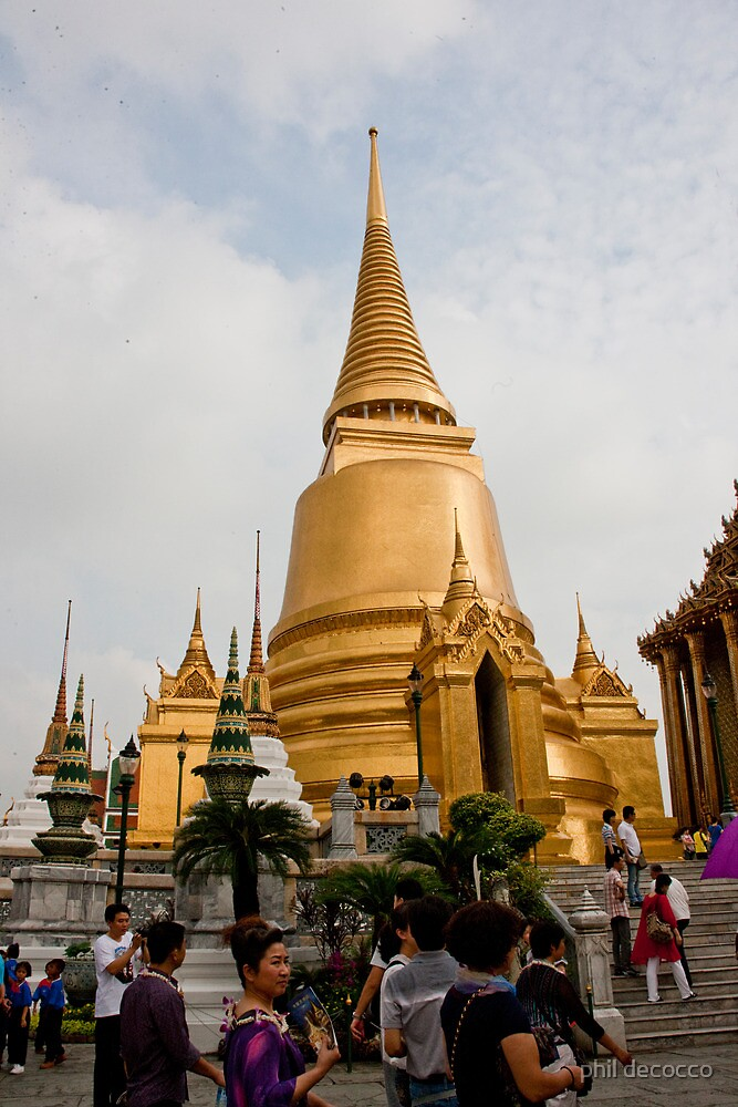 Gold Plated Stupa by phil decocco