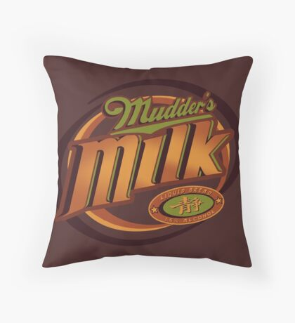 Mudder's Milk Throw Pillow