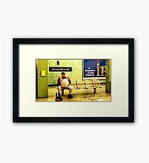 BERLIN - WAITING Framed Print