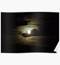 Full Moon At Night Poster