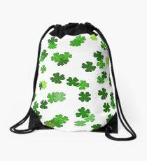 Shamrocks Falling - Pattern for Saint Patricks Day Drawstring Bag